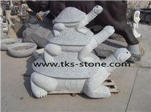 Granite Turtle Sculpture & Statue,Grey Granite Animal Sculptures,Garden Sculptures,Statues,Stone Turtle Caving