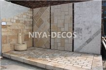 China Beige Limestone/ Coral Stone French Pattern Tiles Seashell Stone Tiles for Walling & Flooring