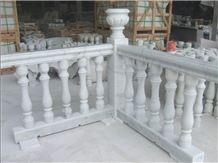 Fargo Carrara White Marble Handrail & Balustrade