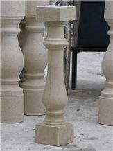 Fargo Crema Marfil Marble Balustrade, Beige Marble Crema Marfil Polished Baluster