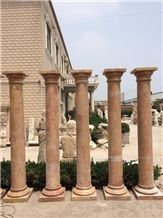 Fargo Rosso Alicante Marble Polished Solid Column