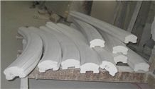 Fargo White Marble Staircase Rails, Polished White Handrail and Balustrade