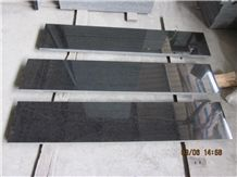 G684 Black Pearl/China Black Basalt Window Sills Slabs & Tiles