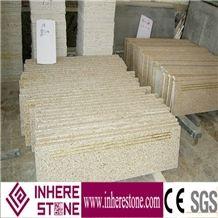 China Yellow Granite G682,G3582 Granite,Desert Gold,Giallo Fantasia,Giallo Ming, Stairs& Steps, Polished Stairs