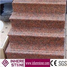 G562 Granite Maple Red Granite Step Stone Stairs, Granite Step, Granite Step Stone