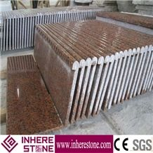 G562 Granite Stairs & Steps, Stair Design for House Red, Chinese Capao Bonito, Cenxi Hong, Cenxi Red, Copperstone