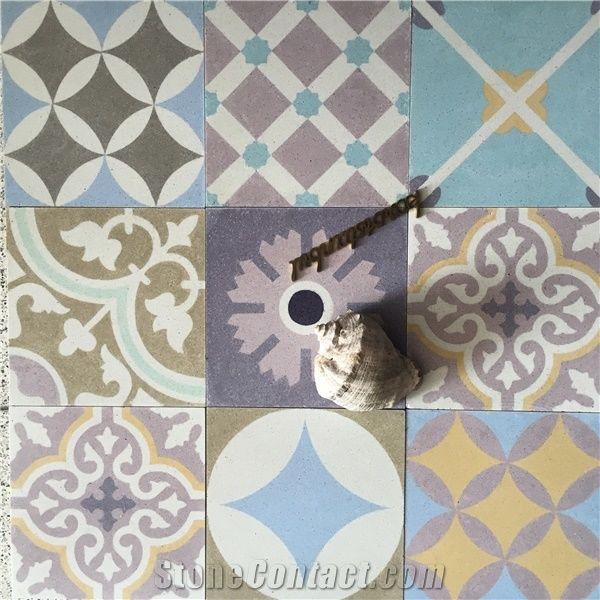 Karoistanbul Handmade Cement Tiles Multicolor Terrazzo
