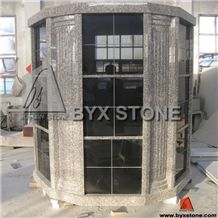 72 Niches Black Granite Cemetery Columbarium / Stone Columbria