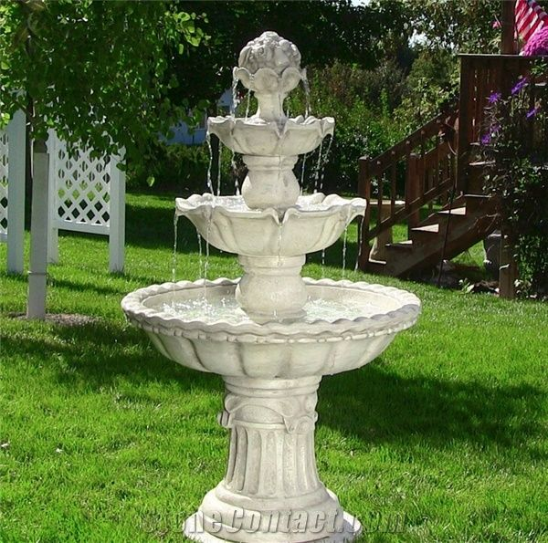 Delicieux Marble Garden Stone Outdoor Water Fountains, White Marble Fountain