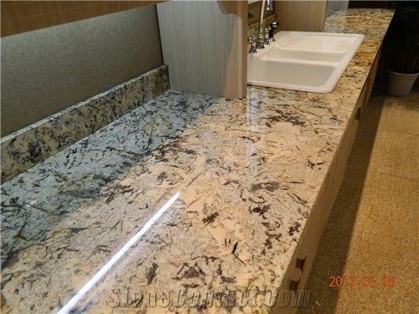 Golden Persa Granite Countertop Vanity Top