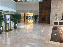 Cream Karaman Marble Hotel Reception Wall and Floor Application, Beige Marble Turkey Flooring Tiles