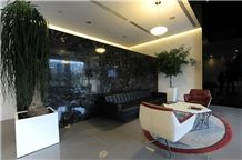 Verde Antico Marble - Petroleum Green Marble Wall and Floor Application Project