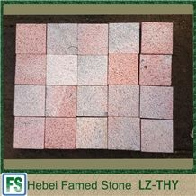 China Red Quartzite Outdoor Cube Stone,Chinese Cheap Cube Stone