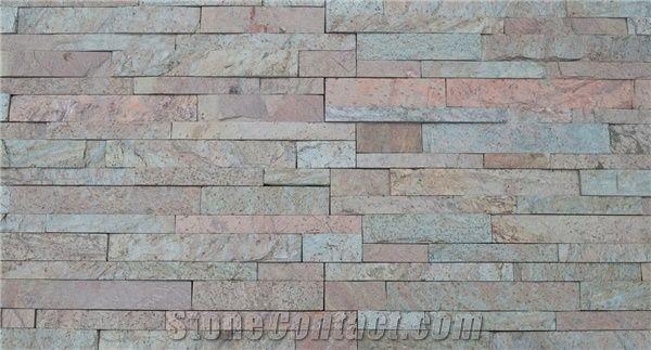 Copper Slate Stone Ledger Wall Panels Slate India For
