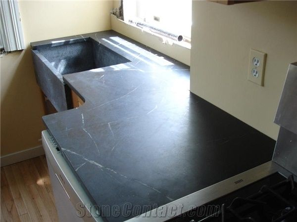 Soapstone Kitchen Top with Farm Sink from United States ... on soapstone suppliers in pa, soapstone countertops lancaster pa, soapstone slabs,