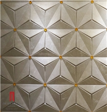 Hot Sale Cnc 3d Beige Marble Wall Tiles