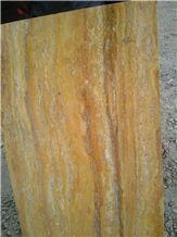 Lemon Travertine, Azarshar Yellow Travertine Block