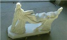 White Iran Onyx Sculpture, Persian White Snow Onyx Sculpture & Statue