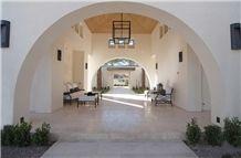 Galala Marble Mediterranean Style Patio Floor Tile, Beige Marble Egypt Cube Stone & Pavers