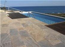 Pizarra Multicolor Rustica Gauged Pool Terrace Pavement, Slate Spain Pool Coping