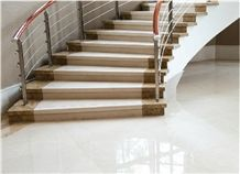 Sivec White A1 Marble Staircase