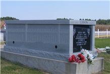 Eagle Blue Granite Mausoleum