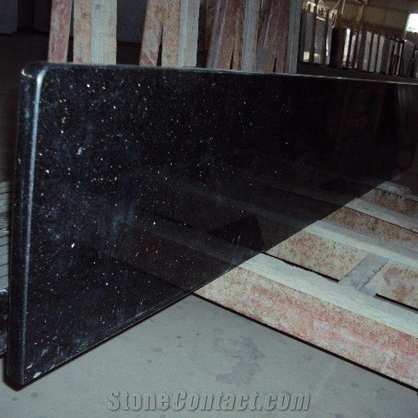 Black Galaxy Kitchen Prefab Granite Countertop Precut Bathroom Countertops Table Tops