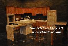 Beige Quartzite Stone Table Top,Interior Stone