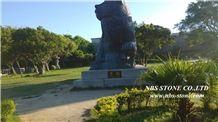 Black Granite Cat Sculpture,Granite Sculptures,Animal Sculptures