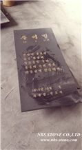 G684 Black Granite Tombstone,Fuding Black Granite