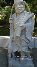 Grey Granite Sculpture,Eighteen Arhats Sculptures,Garden Sculpture