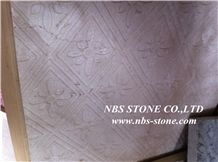 Sculptured China Yellow Marble Wall Relief