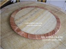 White Marble Round Table Top,Table Top Design