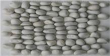 Himalayan White Pebble Stacked Mosaic