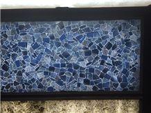 Azul Macaubas Semiprecious Stone Slabs & Tiles,Blue Gem Stone Slabs,Blue Semi Stone Wall Panel