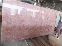 Pink Crystal Gem Stone Slas &Tiles,Pink Crystal Semi Presious Wall Panel,Home Decor