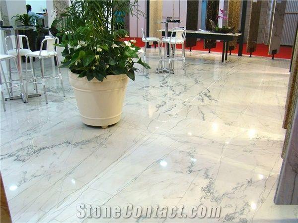 Polished Sea Pearl Quartzite Flooring Tile Brazil White