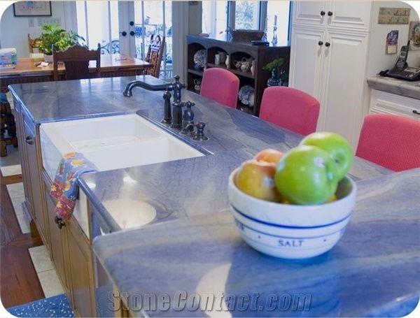 Azul Macaubas Quartzite Kitchen Countertops Kitchen Work