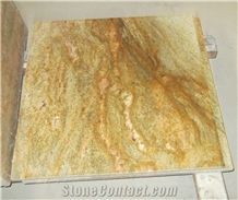 Brazil Popular Cheap Yellow Golden King Granite Polished Floor and Wall Covering Tiles & Slabs,Skirting, Natural Building Stone Decoration for Hotels, Villas Bathroom, Lobby Use