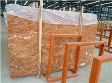 Popular Cheap Turkey Rosa Tea Red Marble Polished Big Slabs,Tiles Floor Wall Covering Skirting, Natural Building Stone Interior Indoor Decoration, Bathroom Lobby Toilet Use, Manufacturer Factory