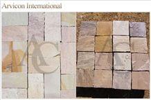 Raveena Sandstone Tiles & Slabs, Multicolor Sandstone Tiles & Slabs