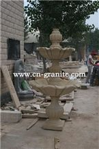 China Factory China Yellow Granite Water Fountain,Garden Fountain,Mainly for Exterior Decoration,Hotel and Suqare Outdoor Decoration,Wholesaler-Xiamen Songjia