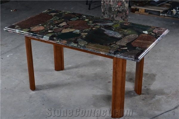 Dinner Stone Interior Decoration Garnite Multicolor Polished Stone - Cheap meeting table