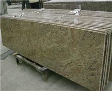 Yellow Granite Polished Bath Tops China Factory Custom Vanity Tops Bathroom Vanity Tops Countertops Hot Sale