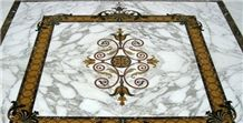 Marble Inlayed Waterjet Medallions