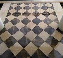 Komani Limestone and Kamen Vranovici Floor Pattern