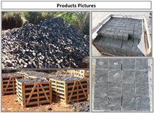 Jumbo Black Granite Cube Stone