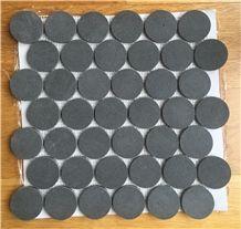 Blm-03 Penny Basalt Round Mosaic