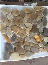 China Natural River Stone, Flat Pebble Stone, Sliced Pebbles