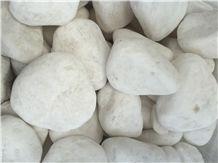 China Snow White Pebble Stone, River Stone, Cobbles